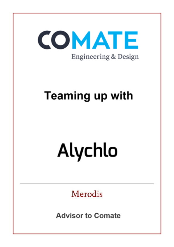Merodis advises Comate in unique partnership deal with Alychlo NV